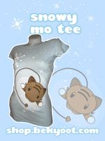 Kawaii Snowy Mo T-shirt by lafhaha