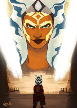 ahsoka tano - before and after by shorelle