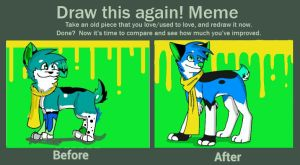 Draw This Again Meme: Blu by SuperColdSoda