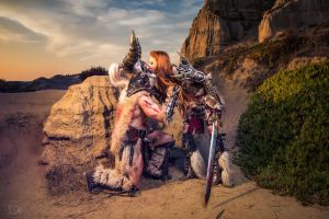 Barbarian Couple - Cosplay - Diablo 3 by emilyrosa