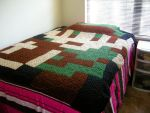 Pixelated Link Afghan by NikisKnerdyKnitting