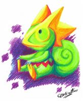 Crayon Kecleon by TamarinFrog
