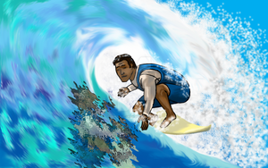 Surfing by iamdravenman
