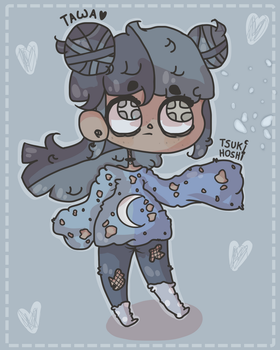 This is my oc called Tsuki Hoshi by TwahLunna