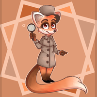 Fox detective by Chypadogra