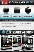 Free Icon Makers Pack - Set of Photoshop Actions by Giallo86