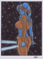 Aayla Secura Copic by phymns