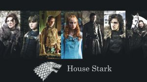 House Stark wallpaper by Pozsy