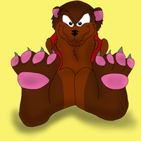 Anthony and his adorable paws by valentinfrench
