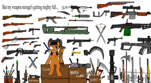 Lola's weapons stash by glue123