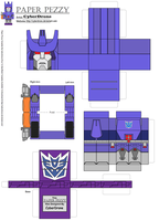 Paper Pezzy- Galvatron 'G1' by CyberDrone