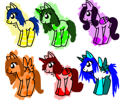 FREE mlp adoptables FREE (CLOSED) by assylum-adopts