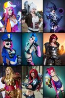 My League of Legends Cosplays by Kinpatsu-Cosplay