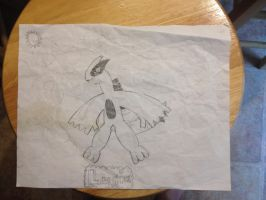Lugia (another drawing I did from 2012) by Ark770