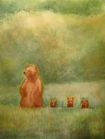 Three Little Bears by Atlantistel