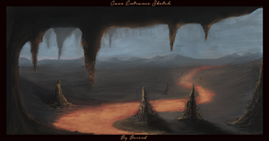 Cave Entrance Sketch 2 by Ihammerli