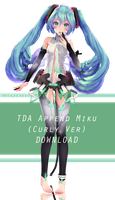 [Download] TDA Miku Append (Curly Ver) by bluepixie02