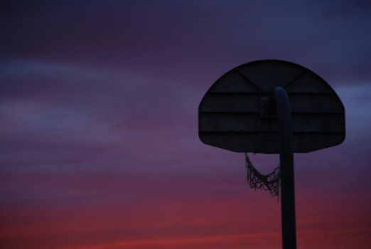 Basketball at Sunset by IcecoldeEagle07