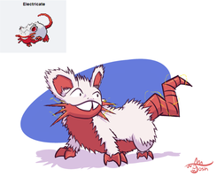 Pokemon Fusion - Electricate by cavemonster