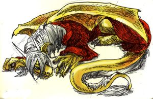 Raistlin Dragon Doodle by Kabudragon