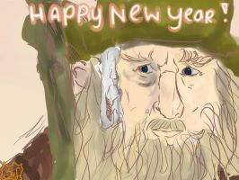 Radagast -Happy New Year- by SarahMinishCap