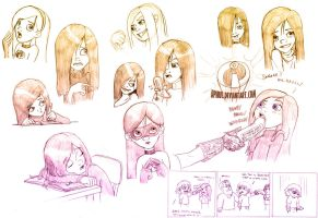 Violet Parr Sketches II by Aphius
