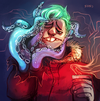 hipster tentacle dude by SIIINS