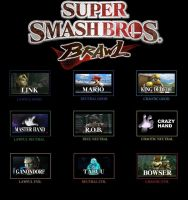 Super Smash Bros Brawl Chart by MattX125