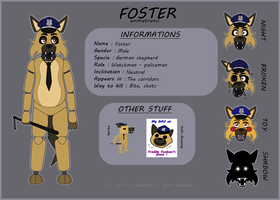 FNAF OC Charactersheet - Foster by Niutellat