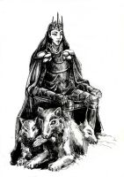 Melkor and werewolf with kind eyes by Tottor