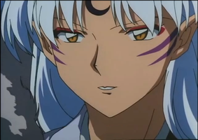 Sesshomaru smiling by KvotheENDV