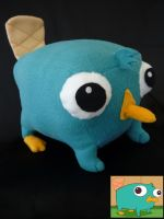 Perry the Platypus plush by cloudstrife597