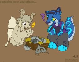 Hatching baby deviations by raygirl