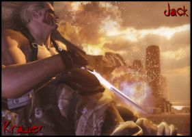 Jack Krauser in mercenaries by muza86