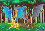 Skyheart And Cinderwing -The Magic Forest by MAKATAKO