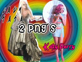 2 png Lady Gaga y Katy Perry by Ro-editions