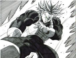 ssj trunks kick by trunks24