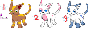 3 POINT ADOPTABLES -OPEN- by Shinx07