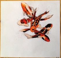 Koi Fishes by sruo