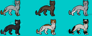 Male cat adoptables -OPEN- by NicoleWattersonCat