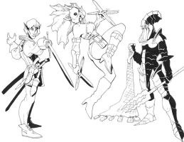 More drow characters by Pachycrocuta