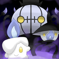 Litwick Lampent Chandelure_remake by hoyeechun