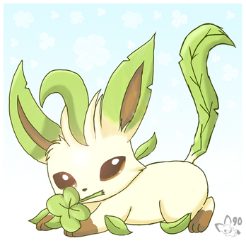 St Patrick's Day Leafeon by pichu90