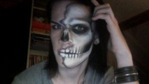 my halloween makeup :P by duncantje