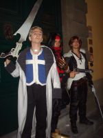 Seifer Squall and Vincent cosplay by DocSkavenger