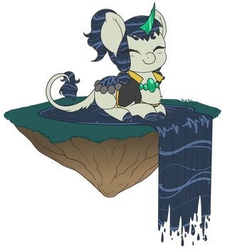 Floating Island Caulder by Diigii-Doll