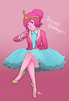 Princess Bubblegum by rabbitsontherun