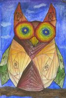 Geometrical owl by Genyes