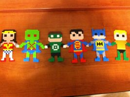 Justice League Bead Sprites by fmagirl09