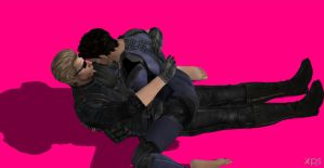 Chris x Wesker by xxClaireBearxx1